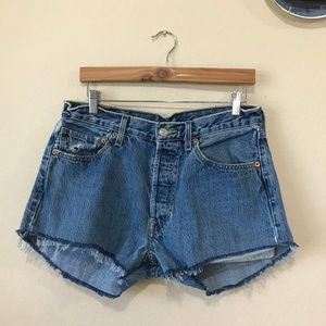 Levi Cutoff Shorts with Button Fly